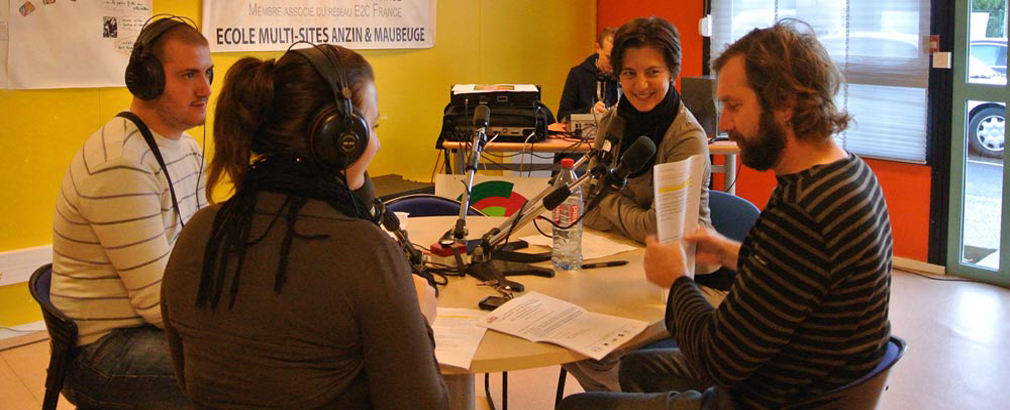 Photo de l'emission radiophonique en direct de l'Ecole de Maubeuge avec Canal FM